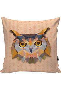 Capa De Almofada Geometric Owl- Salmão & Laranja- 45Stm Home