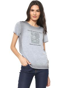 Camiseta Calvin Klein Jeans You Are What You Wear Cinza