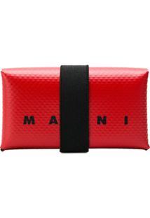 Marni Carteira Com Logo - Vermelho