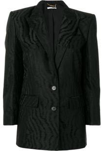 Givenchy Blazer Com Lapelas - Preto