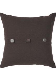 Capa Para Almofada Lounge- Marrom Escuro- 40X40Cm