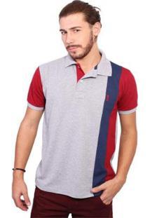 Camisa Polo Golf Club Listrada Masculina - Masculino