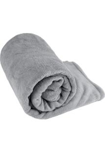 Manta Cobertor Casal Fleece Le Casa Lisa 100% Poliéster Cinza