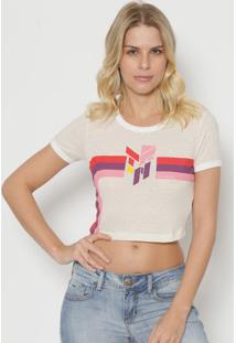 Camiseta Com Vazado - Rosa Escuro & Amarela - Tritontriton