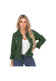 Jaqueta Bloom Jeans Sarja De Moletom Cor Verde Floresta