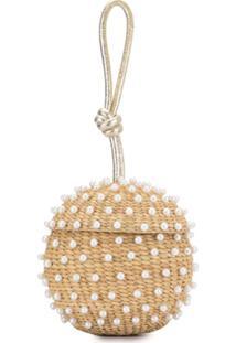 Poolside Spherical Wrist Clutch Bag - Marrom