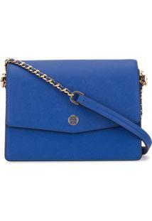 Tory Burch Robinson Convertible Shoulder Bag - Azul