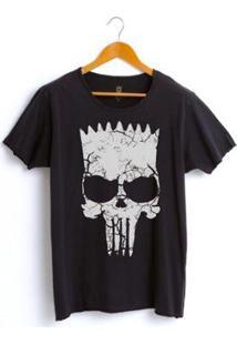 Camiseta Estonada Corte À Fio Joss Vingasimp Masculina - Masculino-Preto