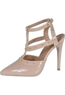 Scarpin Eagle Black Factor Fashion Alto Feminino - Feminino-Nude
