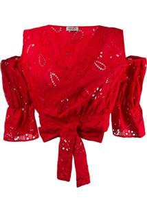 Liu Jo Blusa Com Recorte Nos Ombros - Vermelho