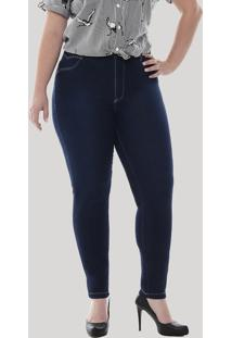 f382680dcc87bf CEA Calça Jeans Feminina Sawary Cigarrete Plus Size Azul Escuro