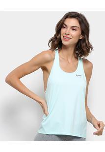 Camiseta Regata Nike Miler Tank Racer Feminina - Feminino-Azul Claro