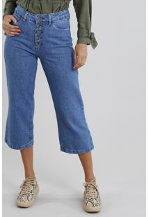 661c0fcf8 R$ 89,99. CEA Calça Jeans Feminina Pantacourt Azul Médio