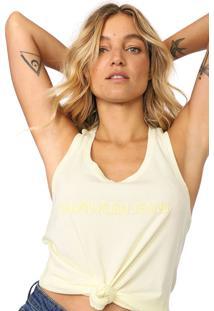 Regata Calvin Klein Jeans Logo Nadador Amarela