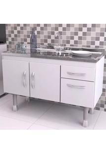 Gabinete Para Cozinha 2 Portas 2 Gavetas Branco 48X142