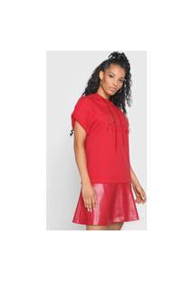 Vestido Lança Perfume Curto Resinado Vermelho