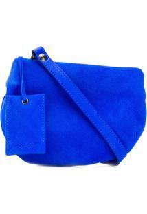 Marsèll Bolsa Transversal Assimétrica - Azul