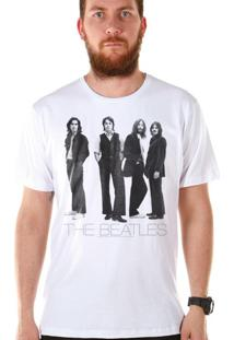 Camiseta Bandup Bandas The Beatles White Album Basic Branco