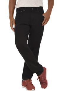 Calça Young Style Jeans Sarja Tradicional Preta