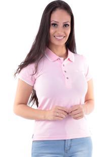 Camisa Polo Cp0723 Slim Traymon Rosa Claro