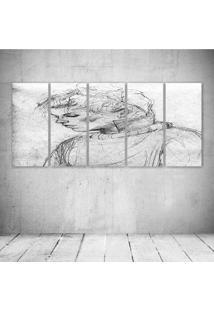 Quadro Decorativo - Pencil Drawing - Composto De 5 Quadros - Multicolorido - Dafiti