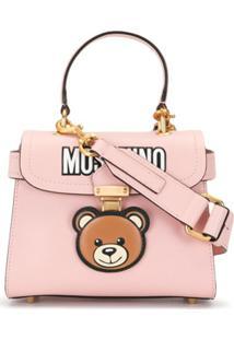 Moschino Teddy Motif Crossbody Bag - Rosa