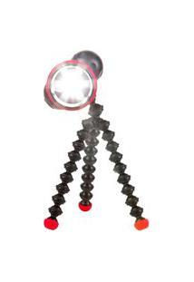 Luminária Joby Com Hastes Flexíveis E Pés Magnéticos Gorilla Torch Flare Preto/Vermelho .