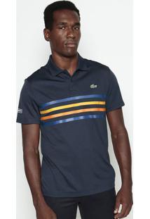 Polo Sport Listrada- Azul Marinho & Amarelo Escurolacoste