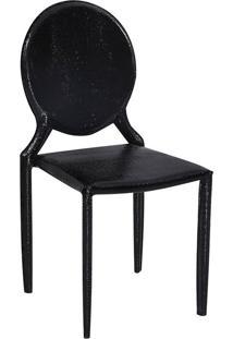 Cadeira Amanda Medalhão Crocco Preto Rivatti Móveis