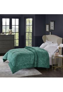 Cobertor Alaska Queen Poeme Esmeralda - 100% Poliéster - Home Design - Corttex