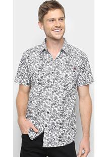 Camisa Manga Curta Ecko Ulina Bicolor Masculina - Masculino