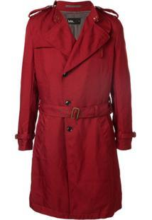 Kolor Trench Coat Com Cinto - Vermelho