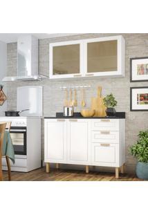 Cozinha Completa 3 Peã§As Americana Multimã³Veis 5924 Branco - Branco/Incolor - Dafiti