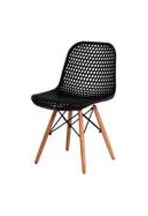 Cadeira Colmeia Eloisa Preta Sala Cozinha Jantar