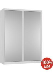 Guarda Roupa 2 Portas De Espelho 100% Mdf 383E2 Branco - Foscarini