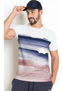 Camiseta Nicoboco Slim Fit Digital Branca