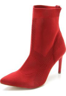 0a4c0f5ef1c Dafiti Bota Slouch Dafiti Shoes Salto Cone Vermelha. Ir para a loja  Bota  Meia Tanara Bico Fino Vermelha