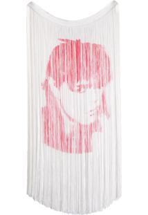 Calvin Klein 205W39Nyc Blusa Com Franjas - Branco