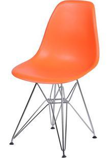 Cadeira Eames Dkr- Laranja & Prateada- 80,5X46,5X42Cor Design