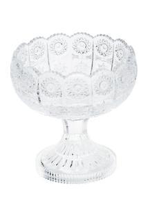Fruteira De Cristal Com Pé Starry 20X20X15Cm - Unissex