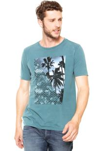 Camiseta Vr Estampada Verde