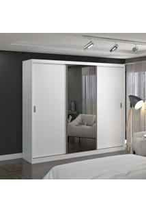 Guarda Roupa Casal 3 Portas C/ 1 Espelho Branco M Foscarini