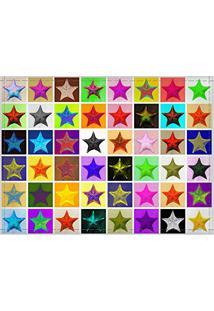 Jogo Americano Decorativo, Criativo E Descolado | Estrelas Coloridas - Tamanho 30 X 40 Cm