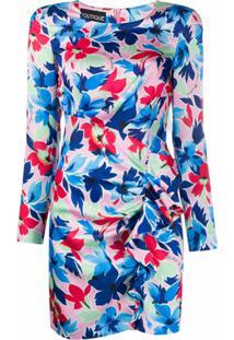 Boutique Moschino Vestido Floral Com Franzido - Rosa