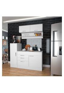 Cozinha Compacta Com Aéreo Nova Mobile Marajó 5 Portas 2 Gavetas