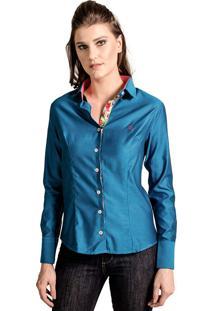 Camisa Carlos Brusman Slim Reta Azul