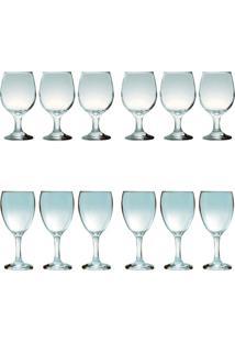 Kit 6 Taças Para Vinho Tinto 245 Ml E 6 Taças Para Água 300 Ml Sture Móveis - Kanui