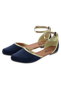 Sapatilha Romântica Calçados Salomé Azul
