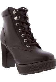 Bota Ankle Boot Vizzano Salto Grosso Marrom 307410