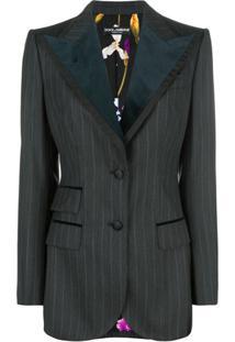 Dolce & Gabbana Blazer Risca De Giz - Cinza